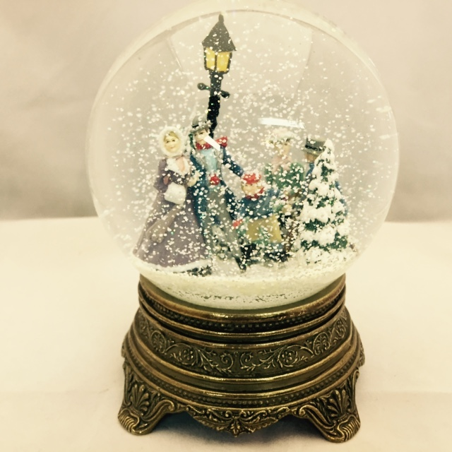 Repaired Skating Scene Snow Globe UK